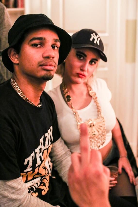 Kim K & Kanye. All that attitude.